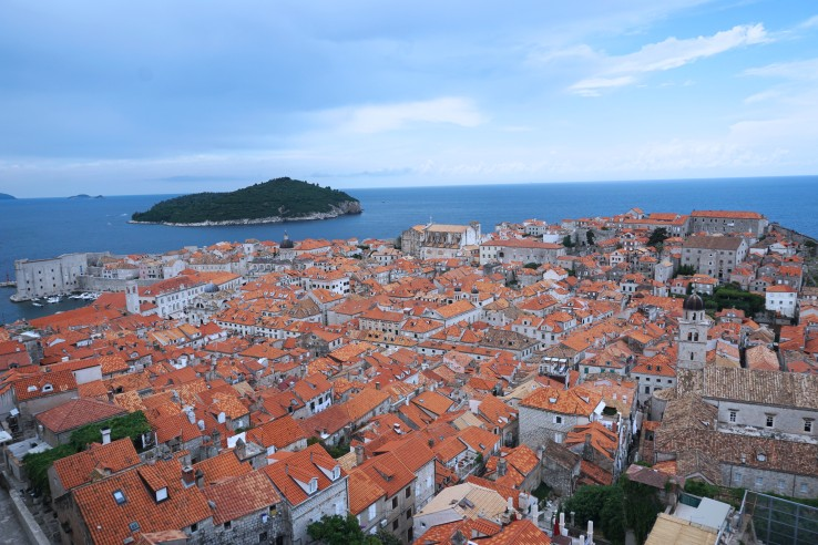 Picture of Dubrovnik from above